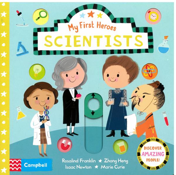 【麥克書店】SCIENTISTS/MY FIRST HEROES / 硬頁操作書《主題:科學家.人物傳記》