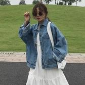 春裝2019新款韓版寬鬆bf網紅帥氣長袖上衣百搭夾克牛仔外套女學生