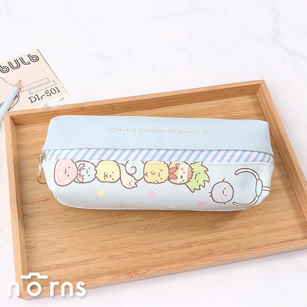 【日貨角落生物正反雙層筆袋 皮質款】Norns SAN-X正版 雙隔層 雙拉鍊鉛筆盒