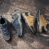 2020新款男鞋春季旅游鞋男士休閒運動鞋男戶外防滑登山鞋爸爸鞋子 藍嵐