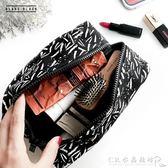 BLANC BLACK韓國品牌化妝包女大容量手提帆布化妝品便攜收納包 『CR水晶鞋坊』
