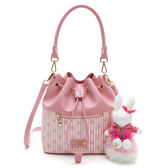 PLAYBOY- 抽繩水桶包 龐克兔系列-粉色