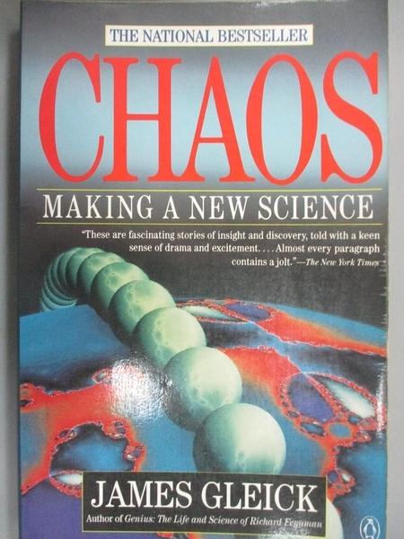 【書寶二手書T1/原文書_YDJ】Chaos-Making a New Science_GLEICK, JAMES, 詹姆斯.葛雷易克