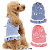 【PET PARADISE 寵物精品】PP 《秋冬新品》蝴蝶結背心洋裝2色/灰 (4S/3S/DSS/SS/DS/S) 寵物衣服