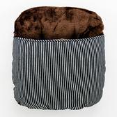 條紋牛仔法蘭絨暖腳枕