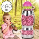 美國i.d.gear兒童水壺/不鏽鋼/幼童水瓶水杯-紅斑幾何480CC B-2MST002