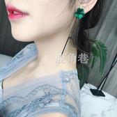 耳環 韓國簡約百搭耳飾品個性吊墜潮人耳墜長款氣質銀針耳釘女 鹿角巷