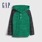 Gap男幼童活力撞色插肩袖連帽衫521461-綠色
