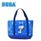 藍色款【日本正版】史努比 肩揹提袋 手提袋 肩背包 托特包 Snoopy SEGA - 334494