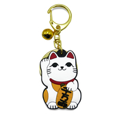 【金石工坊】貓咪鈴鐺小吊飾/鑰匙圈-千萬兩招財金幣貓 開運飾品