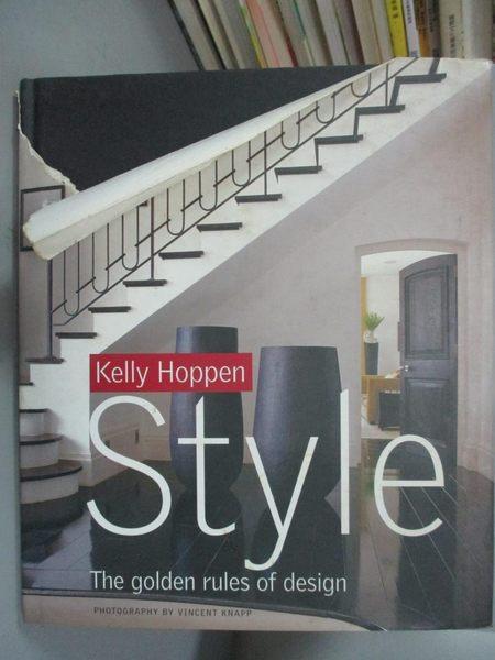 【書寶二手書T1/設計_ZHK】Kelly Hoppen Style: The Golden Rules…