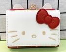 【震撼精品百貨】Hello Kitty_凱蒂貓~三麗鷗 KITTY日本珠扣短夾/零錢包-紅格#09041