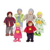 德國Hape愛傑卡-人偶系列現代家庭-白人
