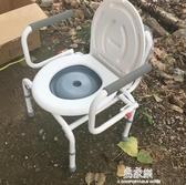 坐便椅加固可調老人坐便椅老年人孕婦坐便器坐廁椅行動馬桶增高器方便椅 易家樂小鋪