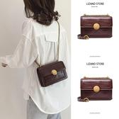 包包 法國質感流行小ck棕色包包女2020新款潮斜挎夏天夏季百搭小眾鏈條