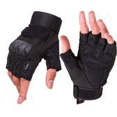 店長推薦全指戰術手套男士作戰戶外騎行機車摩托登山軍迷漏半指手套
