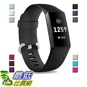[9美國直購] 通用型 Bands 錶帶 Compatible with Fitbit Charge 3