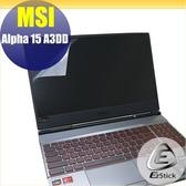 【Ezstick】MSI ALPHA 15 A3DD 靜電式筆電LCD液晶螢幕貼 (可選鏡面或霧面)