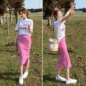 618好康鉅惠T恤搭配包臀裙半身裙軟妹套裝兩件套套裝裙