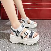 涼鞋女仙女風2021年新款羅馬時尚百搭舒適運動韓版涼鞋鬆糕沙灘鞋 果果輕時尚