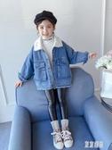 女童可愛外套保暖時尚新款韓版洋氣童裝女孩冬裝兒童牛仔上衣加厚 OO28『東京潮流』