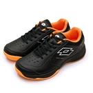 LIKA夢 LOTTO 全地形入門級網球鞋 SPACE 600系列 附贈橘色鞋帶 黑橘 2230 男