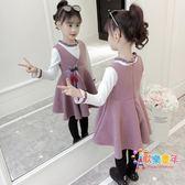 女童洋氣連衣裙秋冬裝2018新款兒童5加厚6小女孩7公主裙子4-8歲潮