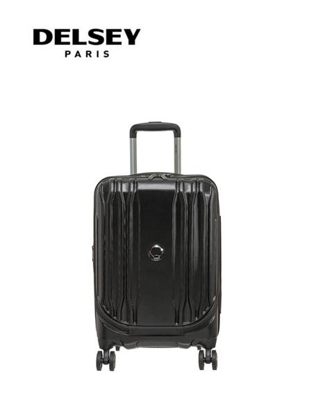 【DELSEY】法國大使 19吋 一九分掀蓋式 ECLIPSE DLX 登機箱/旅行箱-黑色