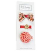 英國 Ribbies 綜合緞帶|髮飾|髮夾3入組-ANNABELLE