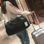 短途旅行包男出差手提包女大容量旅游包簡約皮質行李包防水健身包【完美男神】