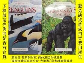 二手書博民逛書店英文原版罕見A Visual Introduction to Penguins+monkeys and apes