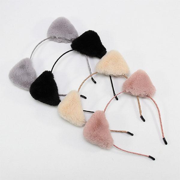 髮箍-韓國超萌毛絨貓耳髮圈 洗臉 卸妝 髮圈 髮刳【AN SHOP】