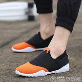 休閒鞋新款潮鞋春季潮流男鞋運動休閒鞋夏季襪子鞋透氣一腳蹬懶人鞋【全館免運】