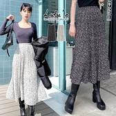 LULUS【A05200097】Y自訂款豹紋百摺長裙2色