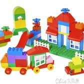 兒童積木玩具 啟蒙大顆粒egao積木拼裝l益智男孩3-6女童4寶寶1-2周歲幼兒童玩具 七色堇