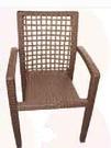 【南洋風休閒傢俱】餐椅系列- 鋁藤餐椅 戶外庭園編藤餐椅 643-17-18-19