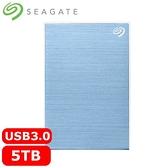 Seagate希捷 One Touch 5TB 2.5吋行動硬碟 冰川藍 (STKZ5000402)