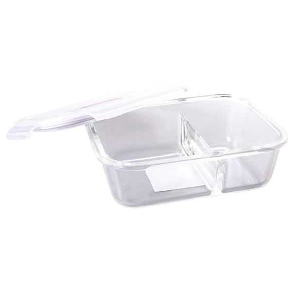 [LOCK&LOCK]樂扣樂扣耐熱分隔玻璃保鮮盒長方形320ml