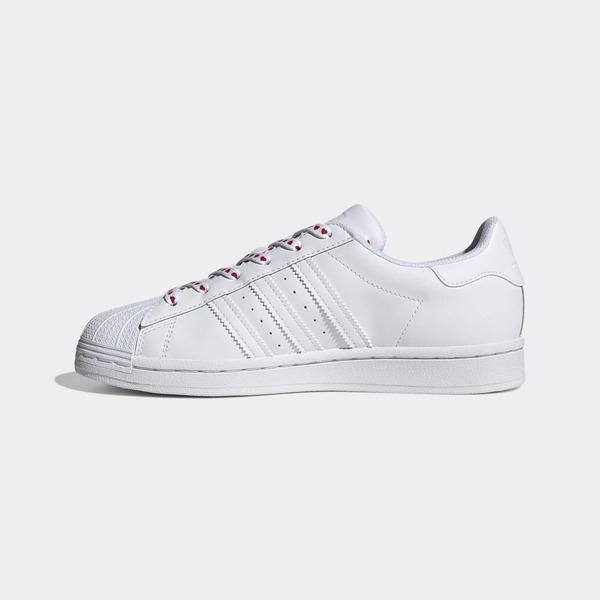Adidas Superstar W [FV3289] 女鞋 運動 休閒 慢跑 百搭 貝殼 愛心 情人節 愛迪達 白彩