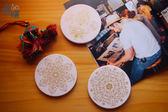 【暖暖瓷器】圓形陶瓷吸水杯墊-3入特惠組-特色陶瓷餐具食器批發