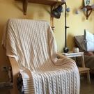 全棉麻花毯針織毛線毯子/辦公室午睡毯/毛毯蓋毯/沙發毯子休閒毯 黛尼時尚精品