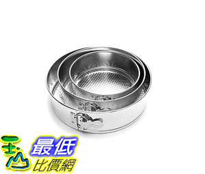 [8美國直購] 蛋糕模具 Fox Run 4560 Springform Pan Set, Tin-Plated Steel, 3-Piece