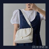 (快速)手提包 新款法國小眾軟面手提包大容量褶皺小方包質感單肩斜背女包