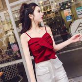 背心女夏外穿韓版時尚荷葉邊抹胸一字肩小吊帶露背短款內搭上衣女