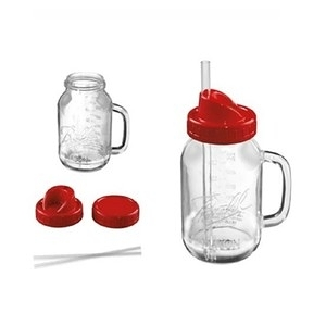 Oster Ball Mason Jar經典隨鮮瓶替杯 紅