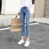 牛仔褲女夏季薄款直筒寬鬆七分高腰顯瘦九分2020新款潮八分小個子