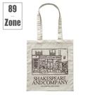 帆布包 89zone 法式經典莎士比亞文...