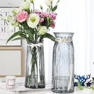 【特大號兩件套】玻璃花瓶透明客廳插花擺件...