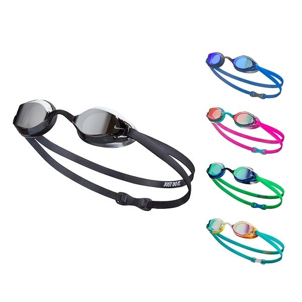 NIKE Legacy Mirror 兒童專業型鏡面泳鏡 抗UV 防霧 超廣角 可調鼻架 NESSA180 【樂買網】