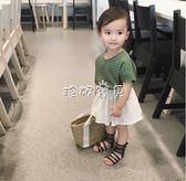 女童鞋子 女寶寶女童羅馬高幫拉鍊涼鞋兒童女涼鞋 珍妮寶貝